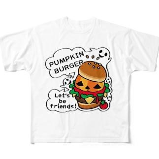 CT14 Gz かぼちゃバーガーA Full graphic T-shirts