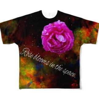 うちゅうのバラだ Full graphic T-shirts