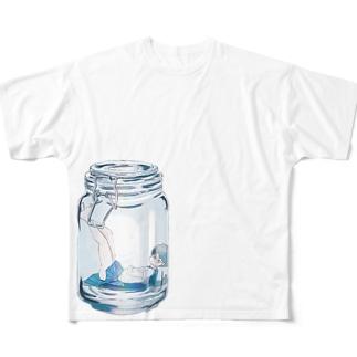 瓶詰め少女 Full graphic T-shirts