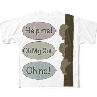 3匹のくまさん Full graphic T-shirts