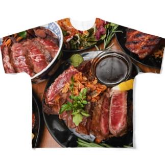 ミナトグリルのお土産屋さんのシカゴブルズステーキ Full graphic T-shirts