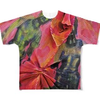 踊る仏像ズ(両面)/カヨサトー Full graphic T-shirts