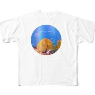 国東おしり岩 Full graphic T-shirts