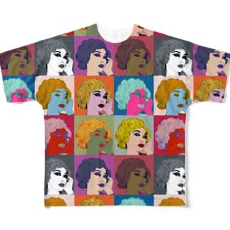 ウノリン モンロー Full graphic T-shirts