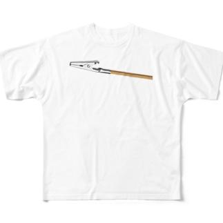塗装する時のアレ Full graphic T-shirts