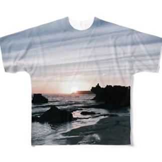 海の夕暮れ Full graphic T-shirts