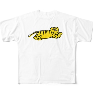 Meのトラ君 Full graphic T-shirts