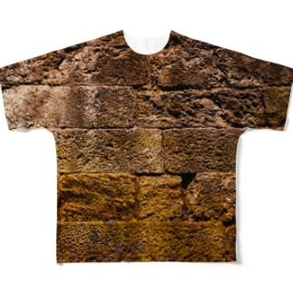 石の壁 Full graphic T-shirts