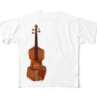 バイオリン×トライアングル Full graphic T-shirts