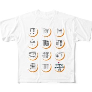 ビルヂング Full graphic T-shirts