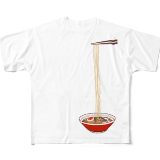 ラーーーーメン Full graphic T-shirts