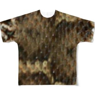 マムシ模様 Full graphic T-shirts
