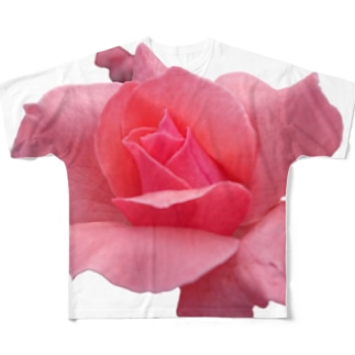 The Rose (Half-blooming) Full graphic T-shirts