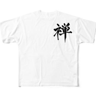 """kanji""""禅(Zen)"""" Full graphic T-shirts"""