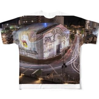 道後温泉 Full graphic T-shirts