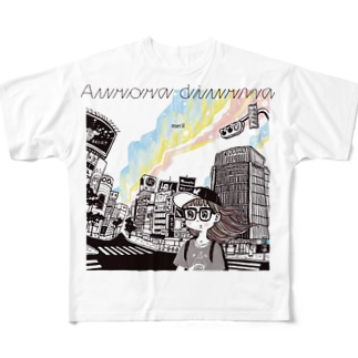 「Aurora diurna」ジャケデザイン2 Full graphic T-shirts