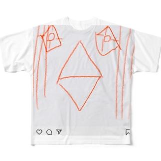 インスタ アマビエさま Full graphic T-shirts