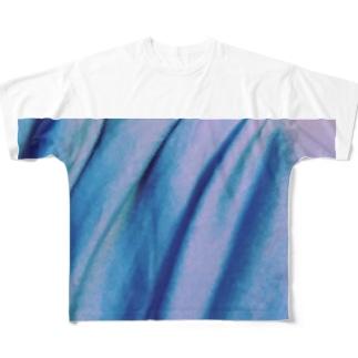 青いモノノ怪 Full graphic T-shirts