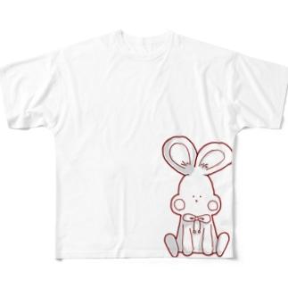 可愛いうさぎ Full graphic T-shirts