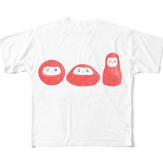 だるまてぃー Full graphic T-shirts