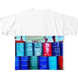 ドラム缶 Full graphic T-shirts