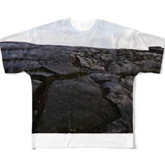 ハワイ島の溶岩 Full graphic T-shirts