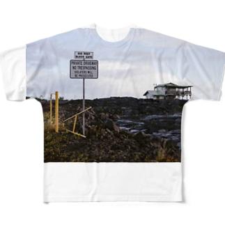 ハワイ島溶岩 Full graphic T-shirts