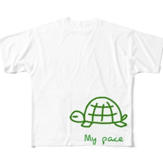 亀ちゃん Full graphic T-shirts