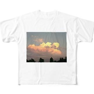 明日は晴れるかな Full graphic T-shirts