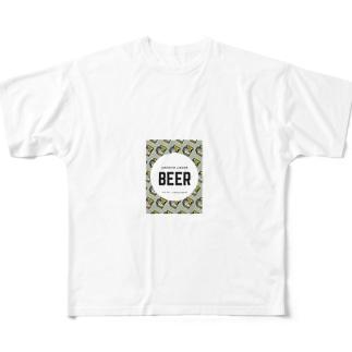 ビールマン Full graphic T-shirts