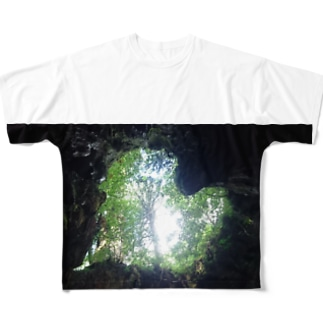LOVE YAKUSHIMA HEART Full graphic T-shirts