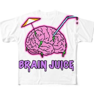 BRAIN JUICE Full graphic T-shirts