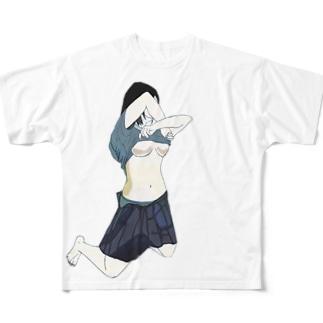下乳 Full graphic T-shirts