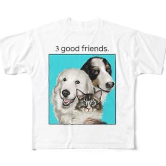 もも ころ とん Full graphic T-shirts