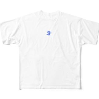 SFロゴビックシルエットTシャツ Full graphic T-shirts