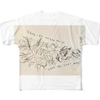 火がもえるって何のこと? Full graphic T-shirts