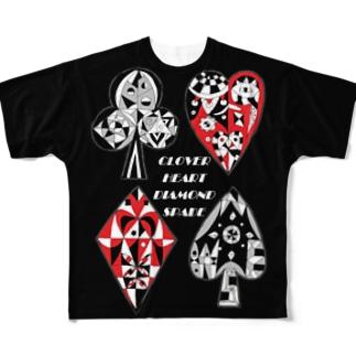 トランプ/ゼンタングル Full graphic T-shirts