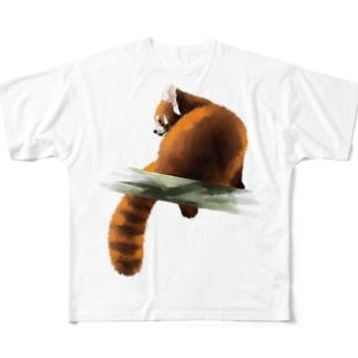 Animals シリーズ 〜レッサーパンダ〜 Full graphic T-shirts