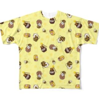 ミツバチモルモット01 Full graphic T-shirts