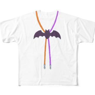 コウモリループタイ Full graphic T-shirts