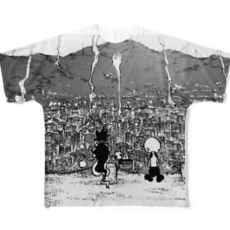 片瀬マコト&モポ Full graphic T-shirts