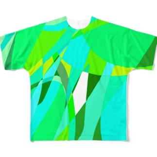 わたがし 字ラスト Full Graphic T-Shirt