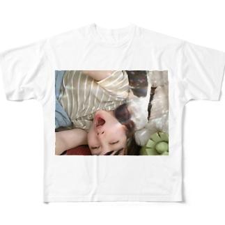 あくび万次郎 Full graphic T-shirts