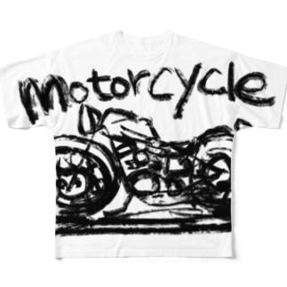 モーターサイクル線 Full graphic T-shirts