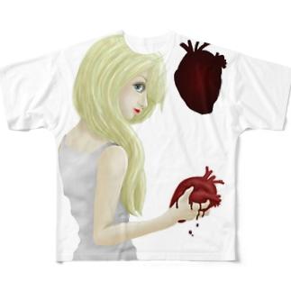 No heart Full graphic T-shirts