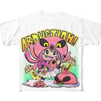 ABUDUCTIONちゃん Full graphic T-shirts