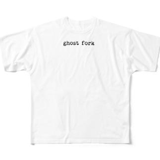 オバケフォーク Full graphic T-shirts