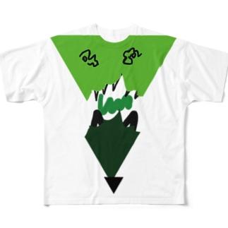 自然の怒り Full graphic T-shirts