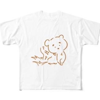 まゆ毛くまさん『虫のこえ』 Full graphic T-shirts