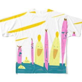 Seventh ニーハオ Full graphic T-shirts